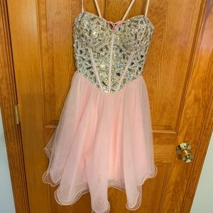 pink homecoming/cocktail dress
